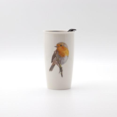 European Robin Travel mug  ספל דרך אדום החזה