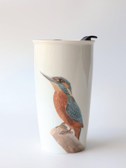 Kingfisher Travel mug  ספל דרך שלדג גמדי