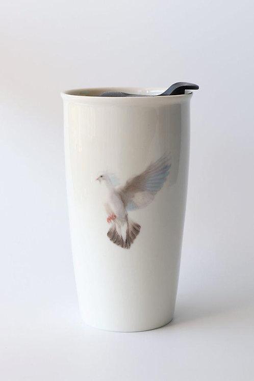 White Dove  Travel mug  ספל דרך יונה לבנה