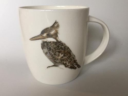 Pied Kingfisher mug  ספל פרפור עקוד