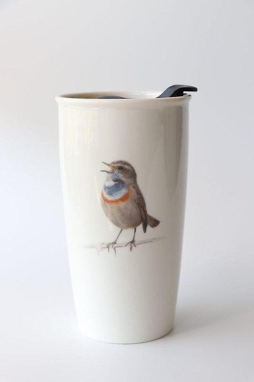 Bluethroat Travel mug  ספל דרך כחול החזה