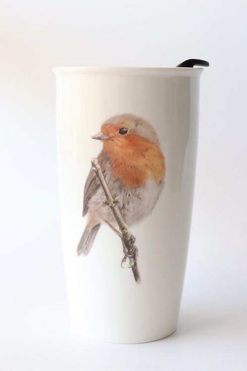 European Robin Travel mug  ספל דרך אדום החזה