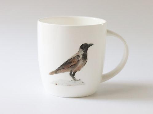 Hooded Crow mug   ספל עורב אפור
