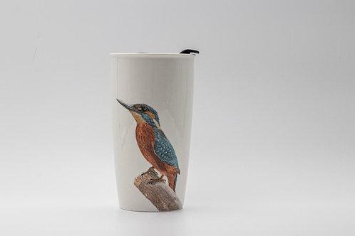 Kingfisher Travel mug  ספל דרך שלדג גמדי
