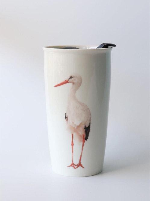 White Stork Travel mug  ספל דרך חסידה