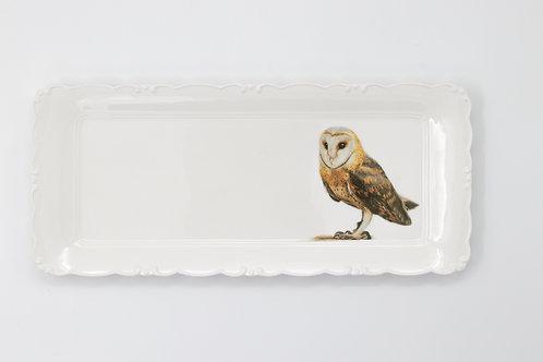 Barn owl platter  מגש תנשמת