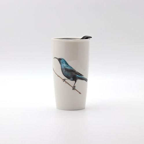 Palestine Sunbird, male, Travel mug  ספל דרך צופית זכר