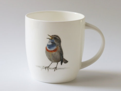 Bluethroat  mug  ספל כחול החזה