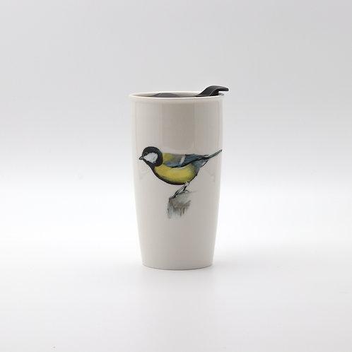 Great Tit Travel mug  ספל דרך ירגזי מצוי