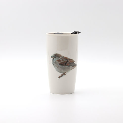 House Sparrow Travel mug  ספל דרך דרור הבית