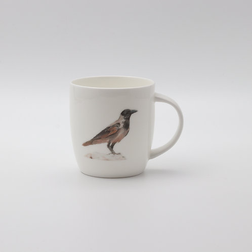 Hooded Crow mug   ספל עורב אפור