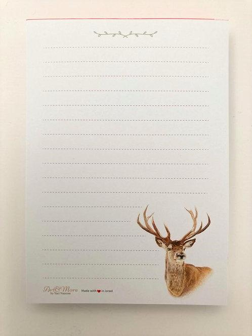 Deer Notepad   פנקס אייל