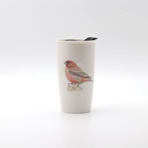 Sinai Rosefinch Travel mug  ספל דרך ורדית סיני