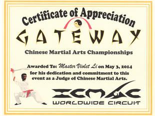 Certificate of Appreciation Judge