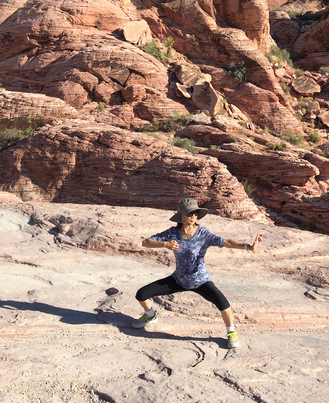 Practicing Tai Chi at the Red Rock Canyo