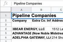Pipeline Companies