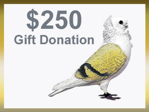 $250 Donation + Lifetime Membership