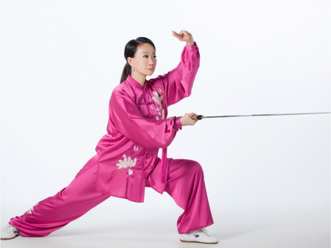"""2021 Spring Semester """"Chen Style Tai Chi Single Sword"""" at St. Louis Chinese Language School"""
