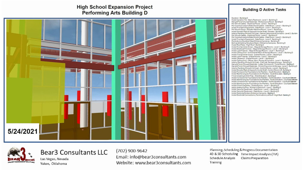High School Modernization Project Building D