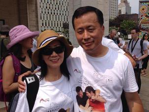 With Grandmaster Ren Guangyi in New York