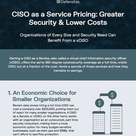 CISO as a Service Pricing [Free Chart]