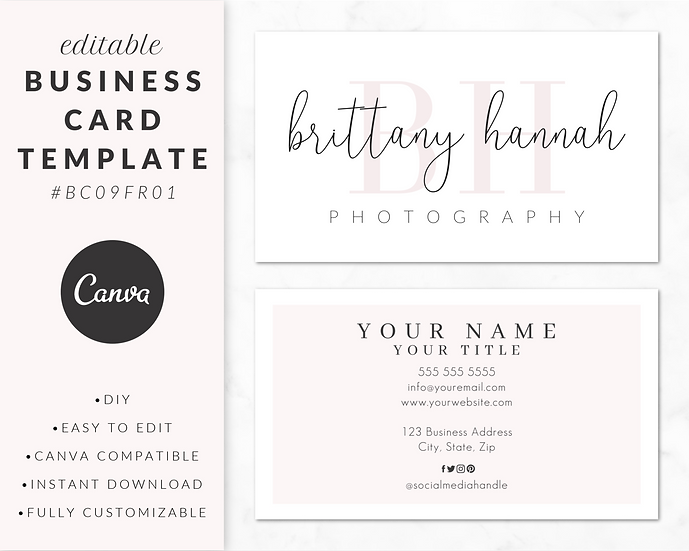 Business Card Template - BC09FR01