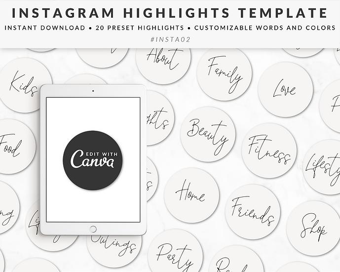 Instagram Story Highlights Template - INSTA02