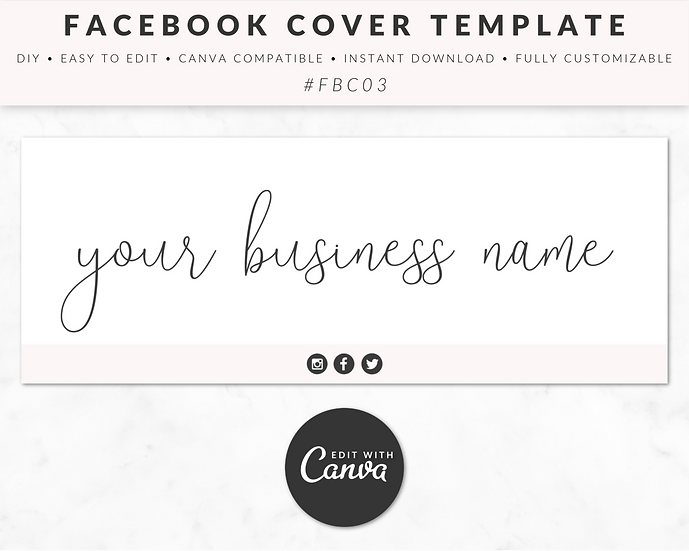 Facebook Cover Template - FBC03
