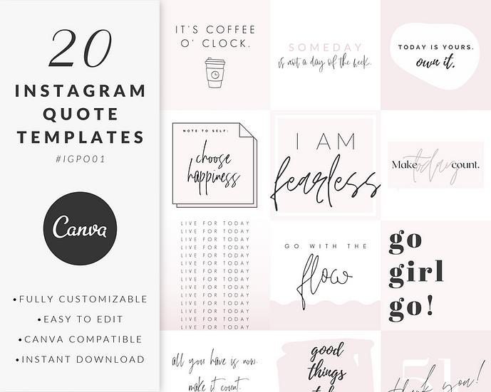 Instagram Post Templates - IGPO01