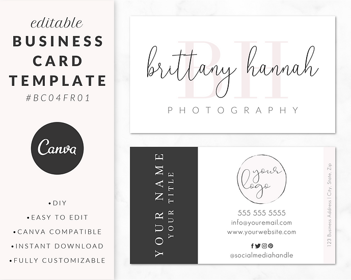 Business Card Template - BC04FR01