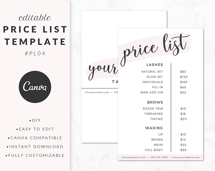 Price List Template - PL04