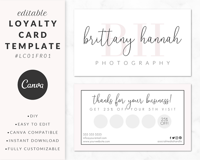 Loyalty Card Template - LC01FR01