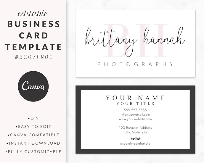 Business Card Template - BC07FR01