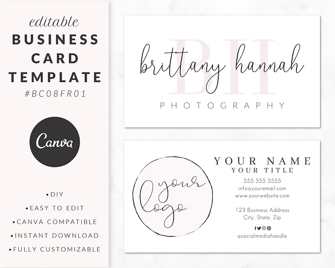 Business Card Template - BC08FR01
