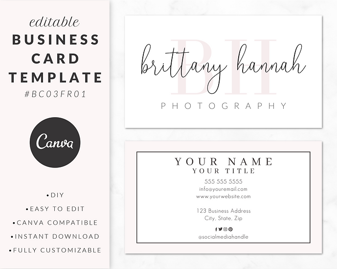 Business Card Template - BC03FR01