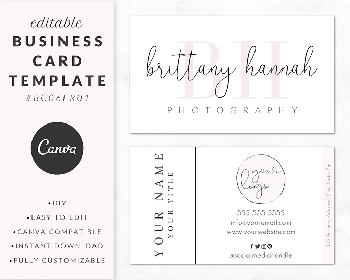 Business Card Template - BC06FR01