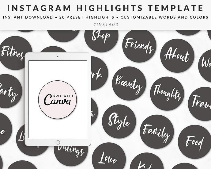 Instagram Story Highlights Template - INSTA03