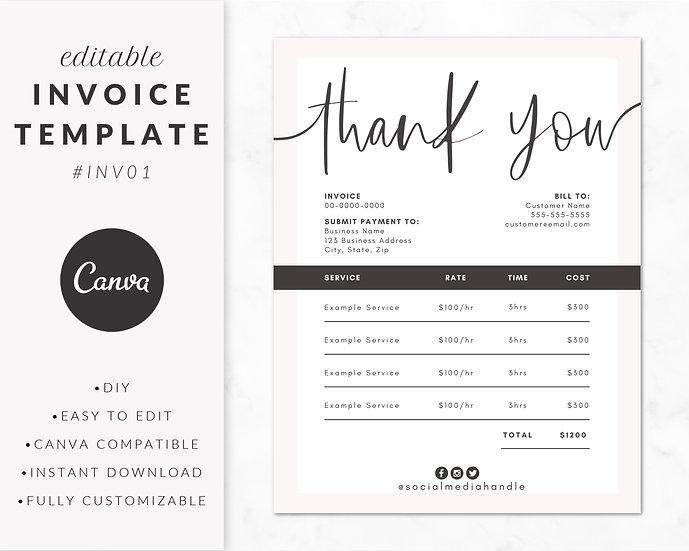 Invoice Template - INV01