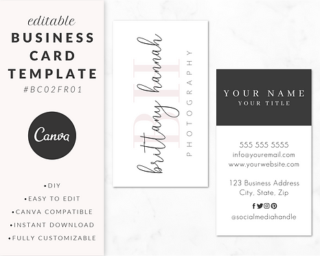 Business Card Template - BC02FR01