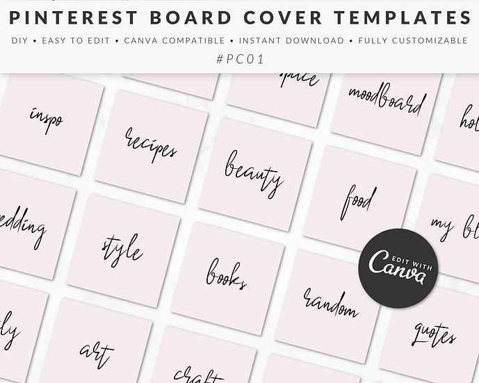 Pinterest Board Cover Templates - PC01