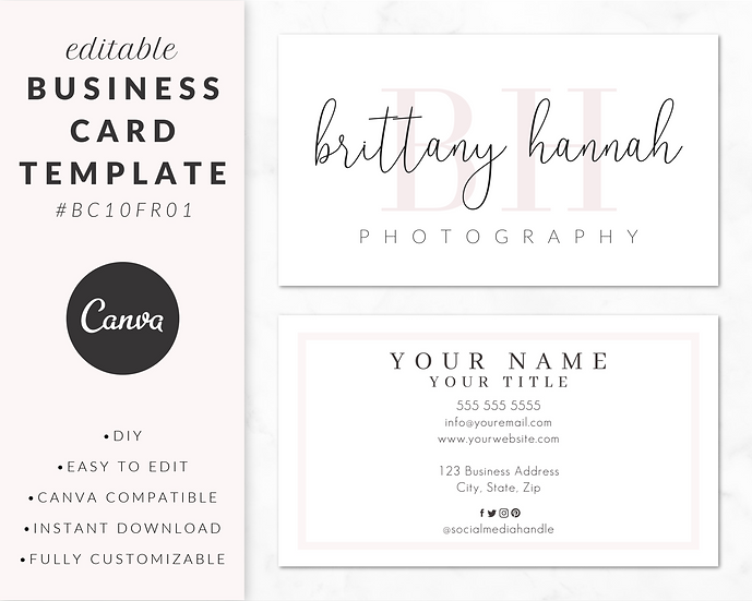Business Card Template - BC10FR01