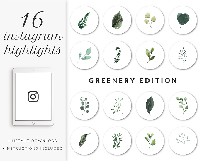 Instagram Highlights: Greenery Edition
