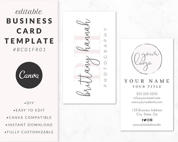 Business Card Template - BC01FR01