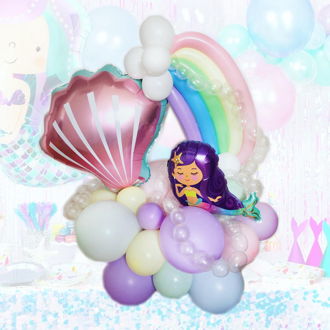 Rainbow Mermaid balloons