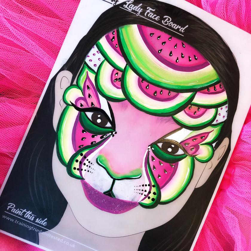 Watermelon cat face painting Wellington New Zealand