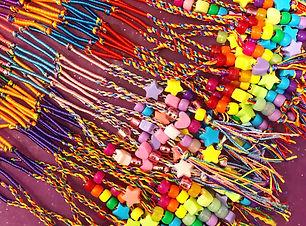 rainbow hair wraps with beads  Wellington New Zealand