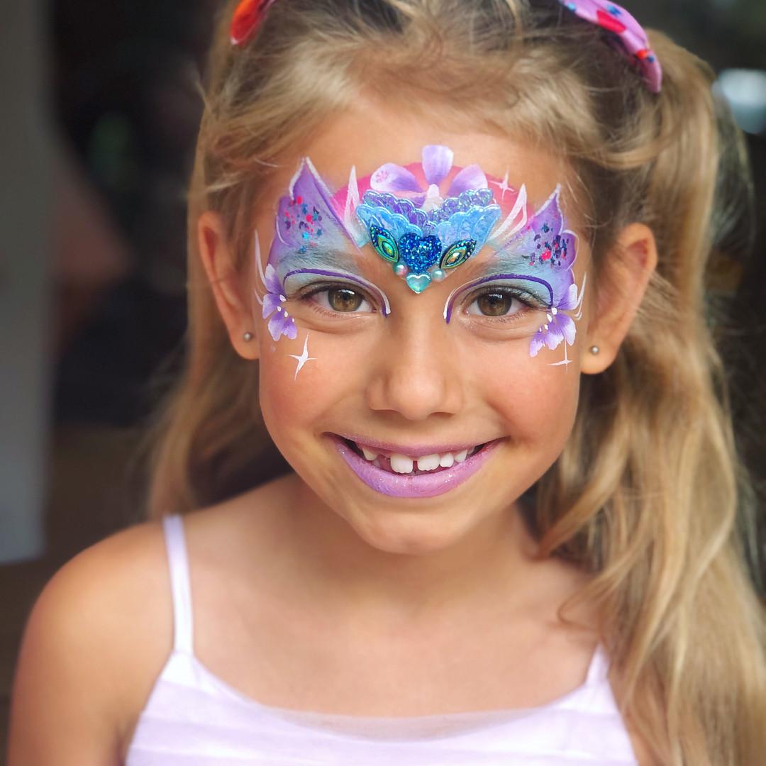 purple fairy face paint
