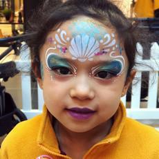 Mermaid princess face paint