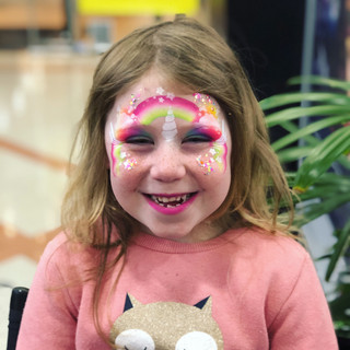 Rainbow unicorn face paint