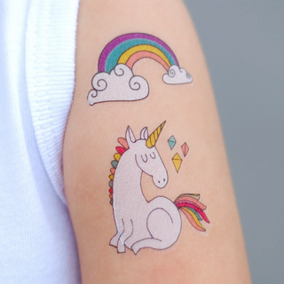 rainbow unicorn tattoo